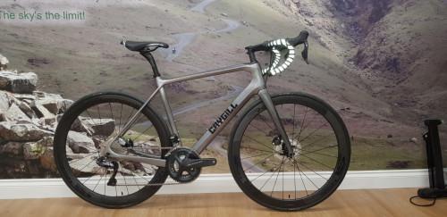 Latest custom Caygill carbon Di2 disc road bike.