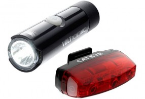 Cateye 100xc front Rapid micro rear lightset