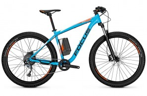 Click to view Focus 27 Whistler 2 Plus Hard-tail E-Mountain Bike in Blue
