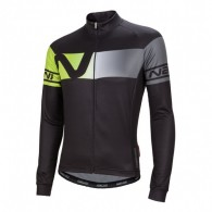 Click to view Nalini Partenza Ti Ls jersey Black/Fluo
