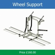 Pendle strap on wheel support rack
