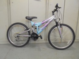 Click to view Used Universal 24 wheel full suspension girls bike