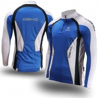 Click to view Deko Air Deimos Long Sleeve Cycling Jersey in Blue & White