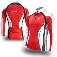 Click to view Deko Air Deimos Long Sleeve Cycling Jerseys in Red & White