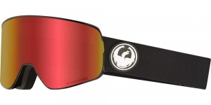 Click to view DRAGON GOGGLES NFX2 BLACK/LUMALENS RED ION