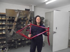Steve Davison. Frame Builder. Sprayer. Cycle technician. Sales and technical advice.