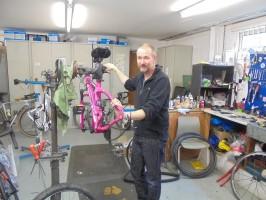 Keith Tinnion. Cycle technician. Sales and technical advice.